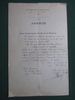 REUNION - NOMINATION  A  ST.PAUL DU DOCTEUR  DERAMOND OCTAVE ,  PERE DE RAYMOND BARRE  ( 34 CM  X 22 CM  ) - Documentos Antiguos