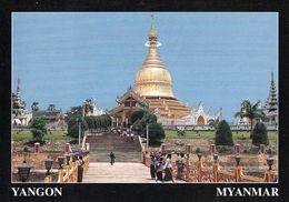 1 AK Myanmar * Die Maha Wizeya Pagode In Yangon - Die Ehemalige Hauptstadt Von Myanmar * - Myanmar (Burma)