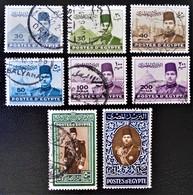 ROYAUME - ROI FAROUK 1939/45 - OBLITERES - YT 213/19 - MI 252/59 - Egypt