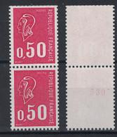 MARIANNE De BEQUET N° 1664 NEUF ** Avec NUMERO ROUGE AU VERSO TENANT À NORMAL (COTE 27€) - 1971-76 Marianne (Béquet)