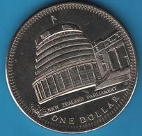 NEW ZEALAND 1 DOLLAR 1978 25th Anniv Coronation / Parliament KM# 47 - Nouvelle-Zélande