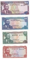 Kenya - Set 4 Banknotes 5 10 20 100 Shillings 1978 AUNC/UNC (5+10 AUNC) Ukr-OP - Kenya