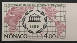 MONACO N° 1700 Centenaire De L'Union Interparlementaire Non Dentelé Essai Imperf Color Proof Superbe **, Paire Bdf RARE - Monaco