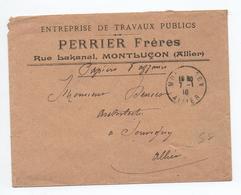 1910 - ENVELOPPE COMMERCIALE De MONTLUCON (ALLIER) - Marcophilie (Lettres)