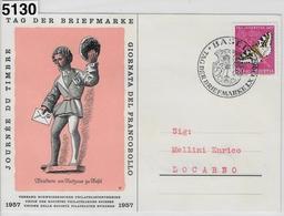 1957 Tag Der Briefmarke Journee Du Timbre 1.XII.57 - Marcophilie