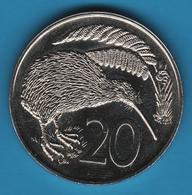 NEW ZEALAND 20 CENTS 1978  KM# 36 KIWI - Nouvelle-Zélande