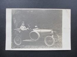 AK 1916 1.WK Automobil Blauer Stempel Feldluftschiffer - Park 5. Armee Seltene Karte. Julius Flechtner Unna - PKW