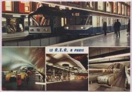 CPM - PARIS - LE R.E.R. Stations CHARLES DE GAULLE ETOILE AUBER - Edition Chantal - Pariser Métro, Bahnhöfe