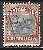 VICTORIA    -   TAXE    -   1890  .  Y&T N° 3a Oblitéré Plume - 1850-1912 Victoria