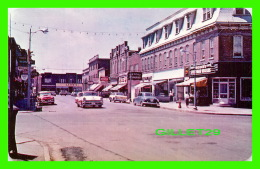 DUNNVILLE, ONTARIO - QUEEN STREET -ANIMATED WITH OLS FORD & DODGE - ALEX WILSON PUB. LTD - - Ontario