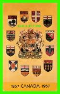 OTTAWA, ONTARIO - EMBLEMS OF CANADA , 1867-1967 - H. A. GARNIER - - Ottawa