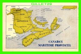 CARTES GÉOGRAPHIQUES - MAPS  - CANADA'S MARITIME PROVINCES - TRAVEL IN 1951 - - Cartes Géographiques
