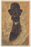 Cpa Collection Chien - Caniche Noir, Signée     ( S. 2788 ) - Chiens