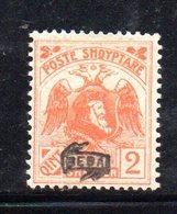 490 39 - ALBANIA 1920 ,  Soprastampa Besa  Yvert  N. 106  Nuovo  * - Albania