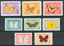 1966 Rep.Domenicana Farfalle Butterflies Schmetterlinge Papillons MNH** Ye28 - Dominicaine (République)