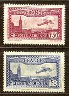SUPERBE POSTE AERIENNE N°5 & 6 A PEINE OBLITERE Cote 7 Euro PAS D'AMINCI - Poste Aérienne
