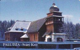 Slovaquie 2001,Slovak Telecom Chip, 2/2001, église En Bois-Paludza, Tirage 50 000,used - Slovakia