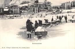 CPA -  Suisse, DAVOS, Schneearbeiter - GR Grisons