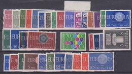 Europa Cept 1960 Year Set 20 Countries 36 Values ** Mnh (original Gum !!!) (38773) Promotion - 1960