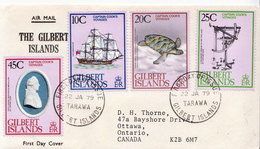 Postal History Cover: Gilbert Island Captain Cook Used FDC - Explorers