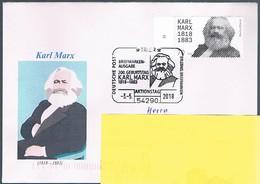 Bund, Schmuckbrief Karl Marx SSt, Trier, Cod. - BRD