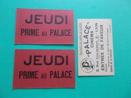 LYON 3 RUE CHILDEBERT PALACE CINEMA RARE TICKET ENTREE GRATUITE + 5 Cartes Cpa Offertes - Lyon