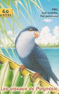 CARTE-PUCE-POLYNESIE-60U-PF112-GEMA-Fond Noir-02/2001-Le LORI NONETTE OISEAU-UTILISE-TBE-LUXE- - French Polynesia