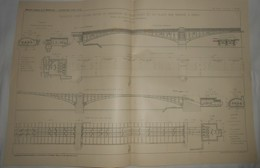 Plan D'une Conduite D'eau D'avre Entre Le Réservoir De Saint Cloud Et La Place Des Ternes à Paris. 1912 - Public Works