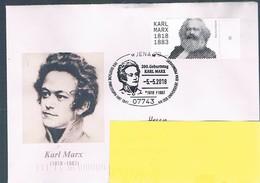 Bund, Schmuckbrief Karl Marx, SSt.Jena Cod. - BRD