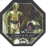 JETON LECLERC STAR WARS   N° 44 C-3P0 & R2-D2 - Power Of The Force