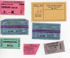 (Suisse) Lot De 7 Tickets Divers (entrée, Transport Etc.. (PPP12351) - Transportation Tickets