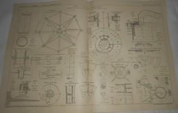Plan De Pieux à Vis Pour Fondations.à Marpent Dans Le Nord. 1912 - Travaux Publics