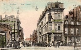 SERAING RUE LEOPOLD  (CARTE COLORISEE) - Seraing