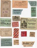 (Allemagne Ou Pays De Langue Allemande) Lot De 16 Tickets Divers  (PPP12352) - Transportation Tickets
