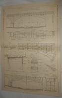 Plan Du Pont En Béton Armé Au Suquet. Chemin De Fer électrique De La Vallée De La Vésubie. 1912 - Public Works