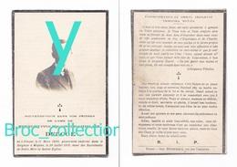 Dinant, Wépion, Mémento Henri-Hyppolite-Joseph-Ghislain Deloge, 11/03/1899 - 26/07/1919, Souvenir Mortuaire - Images Religieuses
