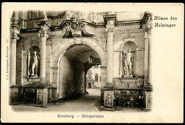 Helsingor, Hilsen Fra, Um 1905, Kronborg, Slotsportalen,  J.C. Borregaard - Dänemark