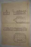 Plan De Cabinets D'aisances Publics De La Ville De Milan En Italie.1912 - Public Works