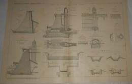 Plan Du Barrage De Grrünwald Près De Gablonz En Bohême. 1912 - Public Works