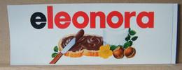 ADESIVI NUTELLA NOMI, ELEONORA - Nutella