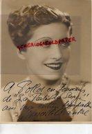 GRANDE PHOTO STUDIO INTRAN- ORIGINALE DEDICACEE MARCELLE CHANTAL PANNIER-ACTRICE PARIS 1901-1960-BACCARA- DEDICACEE - Dédicacées