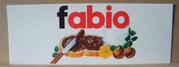 MONDOSORPRESA, ADESIVI NUTELLA NOMI, FABIO - Nutella