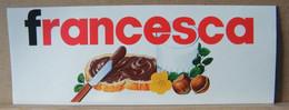 ADESIVI NUTELLA NOMI, FRANCESCA - Nutella