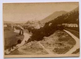 LOURDES EN PREMIER TRAVAUX EN COURS PHOTOGRAPHE  VIRON FORMAT 100 X 145 Mm La Photo Est Collee Sur Carton Dur - Old (before 1900)