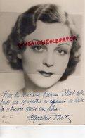GRANDE PHOTO ORIGINALE- JACQUELINE DAIX-NEE MICHAU A AIX LES BAINS 1914-1982-PARIS-ACTRICE- DEDICACEE - Dédicacées