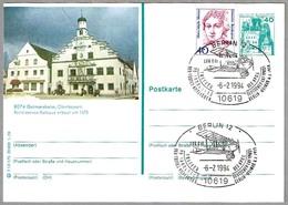 75 Años VUELO POSTAL BERLIN-WEIMAR - Avion LVG C.VI -  75 Years Air Mail. Berlin 1994 - Correo Postal