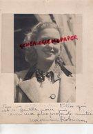 GRANDE PHOTO ORIGINALE MADELEINE ROBINSON-SVOBODA-ACTRICE-1917-2004-LAUSANNE- CAMILLE CLAUDEL- DEDICACEE - Dédicacées