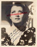 GRANDE PHOTO ORIGINALE GERMAINE AUSSEY-AGASSIS-1909-PARIS-1979-GENEVE-ACTRICE- A NOUS LA LIBERTE-CINEMA- DEDICACEE - Foto Dedicate