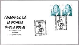 Centenario TARJETA POSTAL - 100 Years Postal Card. CARTERO - POSTMAN. Linares, Jaen, Andalucia, 2002 - Correo Postal