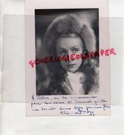 PHOTO ORIGINALE ARIANE BORG- ACTRICE CINEMA-ROUBAIX 1915-COUILLY PONT AUX DAMES 2007- EPOUX MICHEL BOUQUET-DEDICACEE - Foto Dedicate